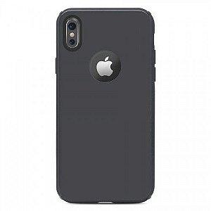 Capa Antichoque Glass Case Space Gray para iPhone X