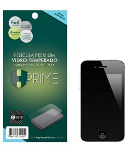 Película de Vidro Temperado HPrime para Apple iPhone 4, Transparente, Leve 2 Pague 1