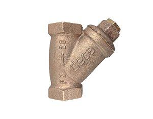 Válvula Filtro Y Rede Inox Para Hidrômetro Deca