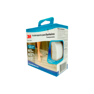Fita Antiderrapante Banheiro Safety Walk Transparente 50mm x 5m 3M