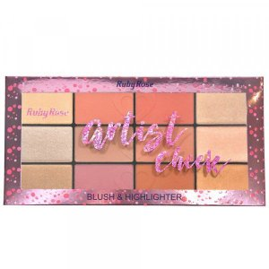 Paleta Ruby Rose Artist Cheek (Blush e Iluminador)