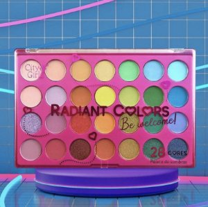Paleta de sombras City Girls - Radiant Colors