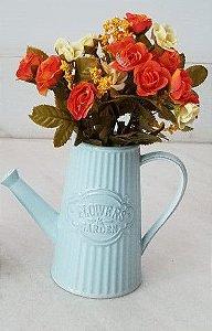 Regador cerâmica retrô azul