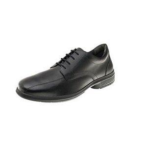Sapato Social Marluvas em Cadarço Couro cor Preta