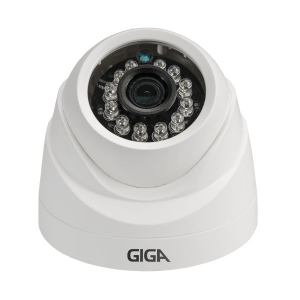 Câmera Giga GS0001 Dome Analógica 960 Plus IR 20M (960TVL | 494p | 3.2mm | Plast)