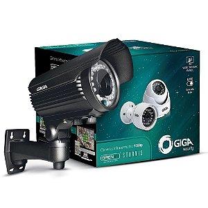 Câmera Giga GS0053 Bullet Varifocal Open HD Sony Starvis 1080P IR WDR 50M IP66 (2.0MP | 1080P | 12MM | Metal)