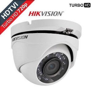 Câmera Hikvision Dome Flex DS-2CE56C0T-IRMF (1.0MP | 720p | 2.8mm | Metal)