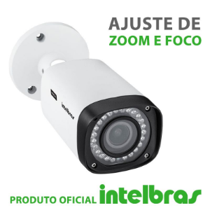 Câmera Intelbras Varifocal com Zoom Multi HD 3140VF G4 Alta Definição (1.0MP | 720p | 2.7mm~13.5mm | Metal)