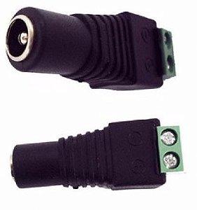 Conector P4 Fêmea com Borne - Kit com 10 Unidades