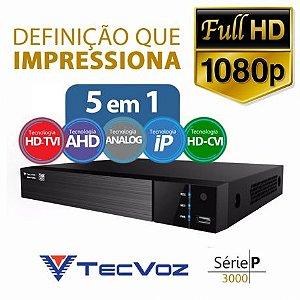 DVR Tecvoz 04 Canais Flex HD Full HD TW-P3004