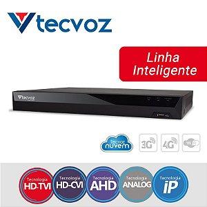 DVR Tecvoz 04 Canais Flex HD Linha Inteligente TV-P5004