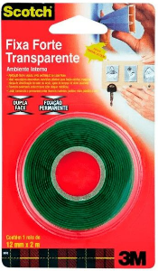 Fita Dupla Face Transparente 3M Scotch - 12mm x 2mm