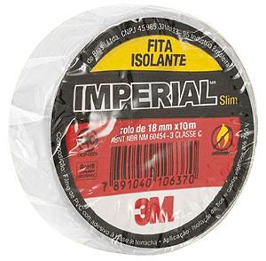 Fita Isolante Imperial Classe C 3M - Branco