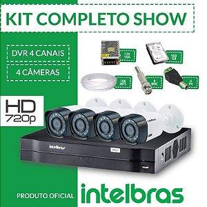 Kit Intelbras Completo Alta definição - 4 Câmeras - HD