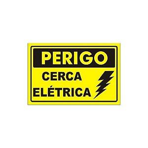 Placa de Alumínio Perigo Cerca Elétrica