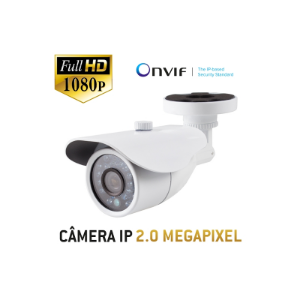 Câmera Multitec Bullet IP Onvif 2.0 - Full HD - 2.0 Megapixel