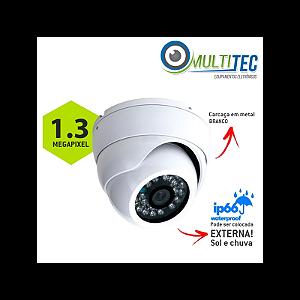 Câmera Multitec Dome AHD-M 1.3 Megapixel Externa Alta Definição (1.3MP   960p   2.8mm   Metal)