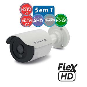 Câmera Tecvoz Bullet Flex HD CCB-136P Alta Definição (1.0MP | 720p | 3.6mm | Plast)