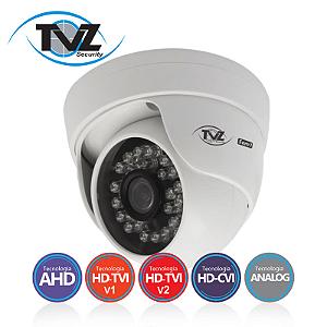 Câmera TVZ Dome Flex HD 5DMP Alta Definição (1.0MP | 720p | 2.8mm | Plast)