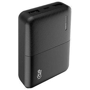Carregador Portátil i2GO 10000mAh 2 Saídas USB Preto