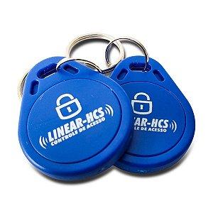Dispositivo Linear Chaveiro Azul LF 125 KHZ - Kit com 10 Unidades