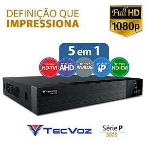 DVR Tecvoz 16 Canais Flex HD Full HD TW-P3016