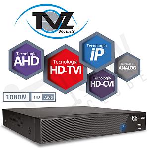DVR TVZ 04 Canais Flex HD Alta Resolução 4VR-2004