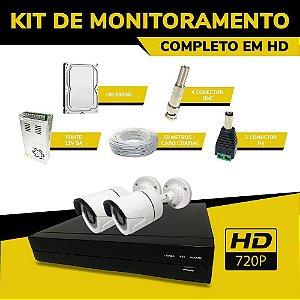 Kit de Monitoramento Completo Econômico em HD
