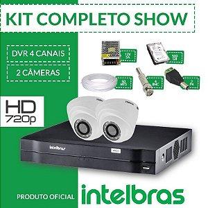 Kit Intelbras completo alta definição - 2 câmeras internas - HD