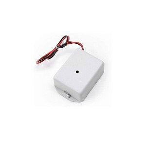 Microfone amplificado tipo caixa para dvr - profissional