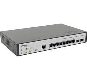 Switch Intelbras 8 Portas Giga SG 1002MR Gerenciável