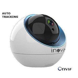Câmera Inova Robozinha IP Sem Fio Auto-Tracking CAM-5704 (1.0MP   720p   Wi-fi   IP65   Plást)