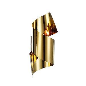 Arandela em Aço Torneado Dourado