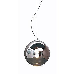 Pendente Esfera Vidro Cromado 40 cm
