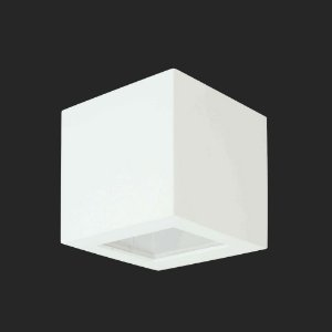 Arandela Alumínio Quadrada 10 cm x 10 cm Alta - 1 Facho