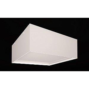 Plafon Sobrepor Acrílico Branco Ivi Quadrado 28x28 Bivolt 3xE27