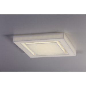 Plafon LED Sobrepor Endy 28X28 Acrílico 110V 3000K Luz Amarela