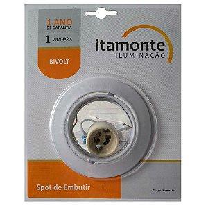 Spot Embutir Alumínio Redondo Direcionável sem Lâmpada GU10