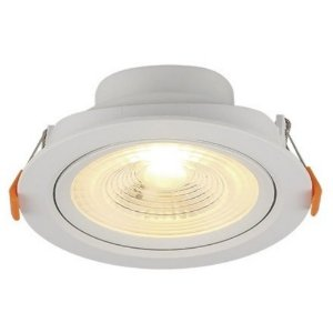 Spot LED Embutir 6 W Bivolt Redondo 3000K Branco Quente