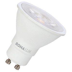 Lâmpada LED Dicróica MR16 PAR16 GU10 3W Bivolt 6500K Branco Frio Romalux