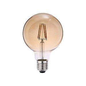 Lâmpada LED Filamento 4W Retrô Vintage Globo Bivolt G125