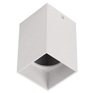 Spot Plafon Sobrepor Quadrado Metal Dicroica GU10 Branco Stella STH8992BR