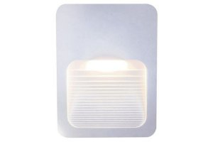 Balizador LED Sobrepor Branco Slim 2W Bivolt 3000K Branco Quente