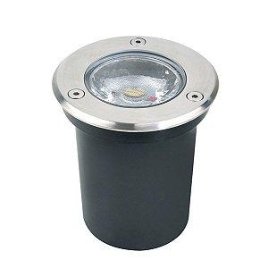 Embutido de Solo 6W LED Chão Piso Jardim 80mm Bivolt 3.000K