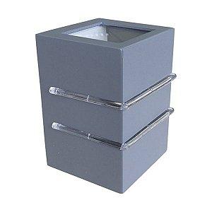 Arandela Externa Flip 2 Aletas 2 Fachos 1xG9 Alumínio Injetado Cinza Concreto