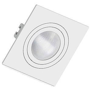 Spot Embutir PAR20 LED E27 Quadrado Face Plana Orbital Branco