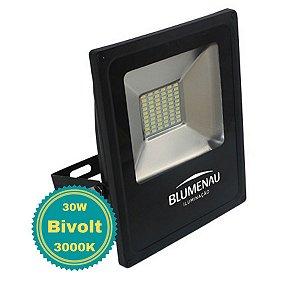 Refletor LED para Jardim Área Externa Fachada 30W 3000K Bivolt Slim Alumínio