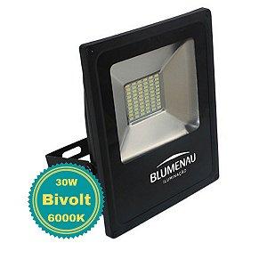 Refletor LED para Jardim Fachada 30W Luz Branco Frio Bivolt Slim