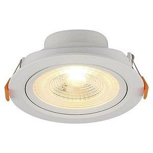 Spot LED Embutir Direcionável Redondo 3W Bivolt 3000K Branco Quente Blumenau