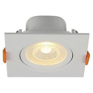 Spot LED Embutir Direcionável Quadrado 3W Bivolt 6500K Branco Frio Blumenau